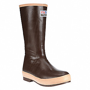 "Ins Boots,Size 13,15"" H,Brown,Plain,PR"