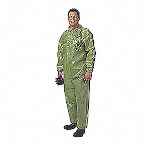 Level B Rear-Entry Encapsulated Suit, Green, Size 2XL/3XL, Zytron 400
