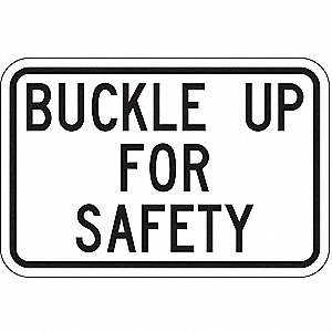 "Vehicle or Driver Safety, No Header, Aluminum, 12"" x 18"", High Intensity Prismatic"