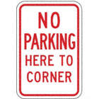 No Parking Here To Corner Signs
