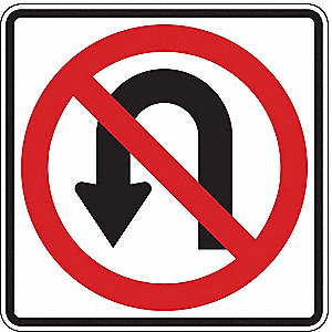 TRAFFIC SIGN,24 X 24IN,R AND BK/WHT