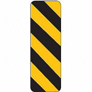 TRAFFIC SIGN,12 X 6IN,BK/YEL,SYM