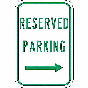 "Parking, No Header, Recycled Aluminum, 18"" x 12"", With Mounting Holes, Top/Bottom Centered"