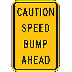 Traffic Sign,18 x 12In,BK/YEL,Text,MUTCD