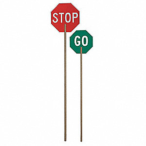 Paddle Sign,Stop/Go,Aluminum