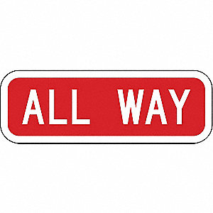 "Text All Way, Reflective Aluminum Traffic Sign, Height 6"", Width 18"""