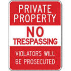 Private Property No Trespassing Violators Will Be Prosecuted Signs