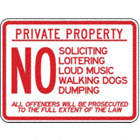 Private Property No Soliciting Loitering Loud Music Walking Dogs Dumping All Offenders Will Be Prosecuted To The Full Extent Of The Law Signs