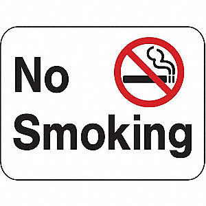Safety Sign,No Smoking,18 x 24 In