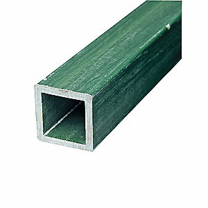 Green Sign Post, Composite, Length: 7 ft., 1 EA