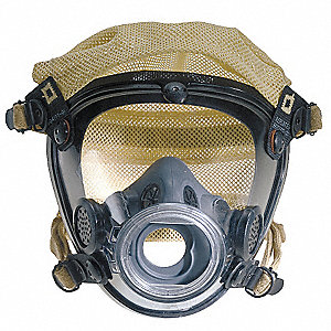 Full Face Respirator, 4 Pointwith Kevlar® Mesh Suspension, L