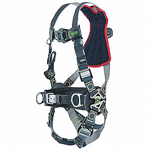 L/XL Arc Flash, Construction, Confined Space Full Body Harness, 5000 lb. Tensile Strength, 400 lb. W