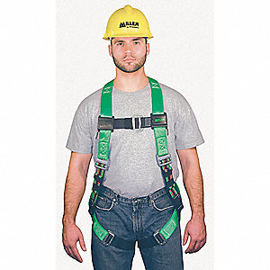 2XL Construction, Confined Space Full Body Harness, 4000 lb. Tensile Strength, 400 lb. Weight Capaci