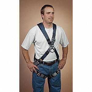 ExoFit™ Full Body Harness with 420 lb. Weight Capacity, Blue, M