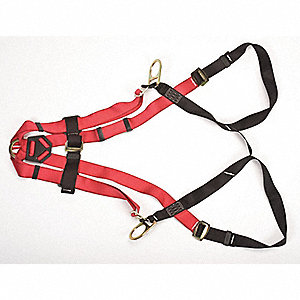 Full Body Harness, Harness Size: Universal, Weight Capacity: 400 lb., Red