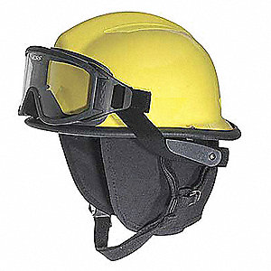 Lime-Yellow Fire Helmet, Shell Material: Thermoplastic, 6pt. Ratchet Suspension, Fits Hat Size: 6-1/