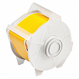 "Yellow Vinyl Film Label Tape Cartridge, Indoor/Outdoor Label Type, 100 ft. Length, 2-1/4"" Width"