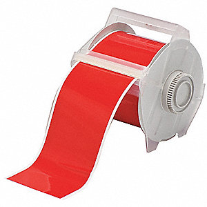 Tape,Red,100 ft. L,4 In. W