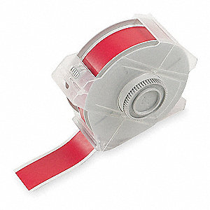 "Indoor/Outdoor Vinyl Film Label Tape Cartridge, Red, 1-1/8""W x 100 ft."