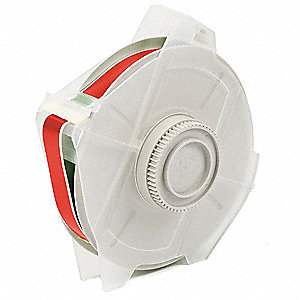 "Indoor/Outdoor Vinyl Film Label Tape Cartridge, Red, 1/2""W x 100 ft."