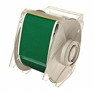 "Green Vinyl Film Label Tape Cartridge, Indoor/Outdoor Label Type, 100 ft. Length, 2-1/4"" Width"