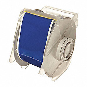 "Blue Vinyl Film Label Tape Cartridge, Indoor/Outdoor Label Type, 100 ft. Length, 2-1/4"" Width"