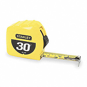 Tape Measure,1Inx30 ft.,Steel