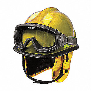 Fire and Rescue Helmet, Shell Material: Thermoplastic, Ratchet Suspension, Fits Hat Size: 6-3/8 to 8