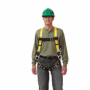 Workman® Full Body Harness with 400 lb. Weight Capacity, Yellow, XL