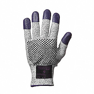 Nitrile Cut Resistant Gloves, ANSI/ISEA Cut Level 3, Purple, M, PR 1