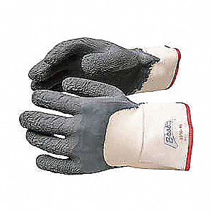 Nitrile Cut Resistant Gloves, ANSI/ISEA Cut Level 3, Cotton Lining, Gray/White, L, PR 1