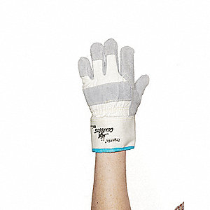 Cut Resistant Gloves,Gray/White,2XL,PR