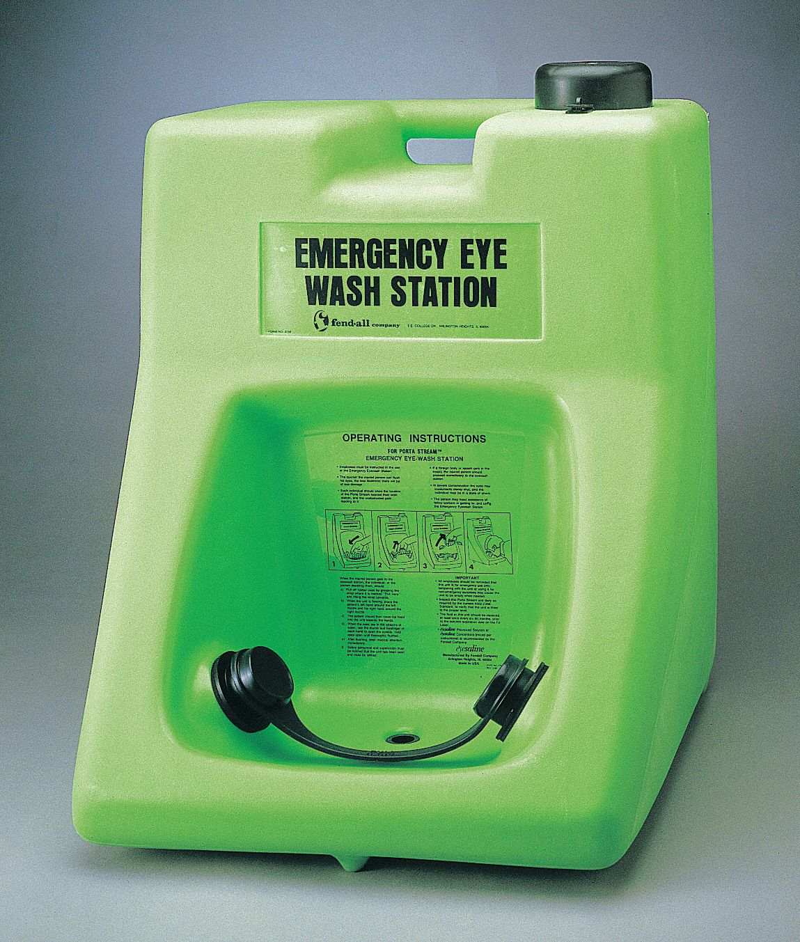 Eye Wash Station,  16.0 gal Tank Capacity,  Activates By Elastomeric Pull Strap