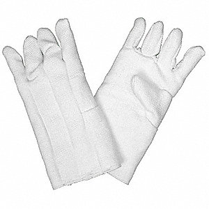 Heat Resistant Gloves, Zetex® Highly Texturized Fiberglass, 1100°F Max. Temp., One Size Fits Most, P