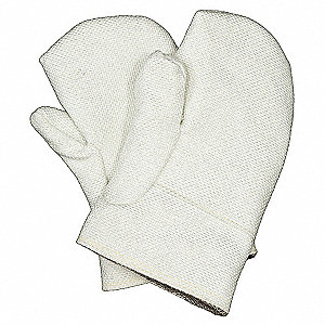 Reversible Heat Resistant Mittens, Zetex® Highly Texturized Fiberglass, 1000°F Max. Temp., One Size