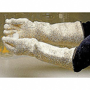 Heat Resistant Gloves, Terry Cloth, 250°F Max. Temp., One Size Fits Most, PR 1