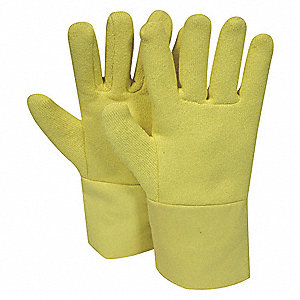 Heat Resistant Gloves, Terry Cloth/Kevlar®, 500°F Max. Temp., Universal, PR 1