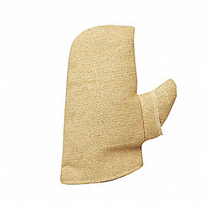Heat Resistant Mittens, PBI/Kevlar®, Unrated Max. Temp., One Size Fits Most, PR 1
