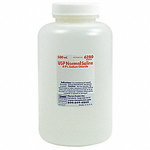Saline, 500mL Bottle