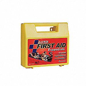 First Aid Kit,Bulk,Yellow,137 Pcs