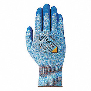 15 Gauge Nitrile Coated Gloves, Glove Size: L, Blue