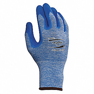 15 Gauge Nitrile Coated Gloves, Glove Size: XL, Blue