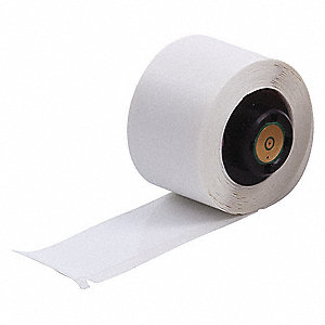"Polyester Label, White, 3""W x 1"""