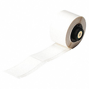 Label,White,Vinyl Cloth,2-1/2 In. L