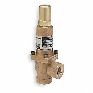 Pressure Relief Valve,1/2In,50psi,Bronze