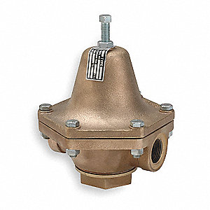 "B Series 9-1/4""L Bronze Pressure Regulator, 20 to 100 psi"