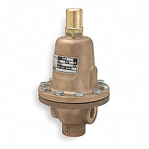Bronze Adjustable Back Pressure Relief Valve, FNPT Inlet Type, FNPT Outlet Type