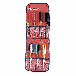 "7-1/4"" Nut Driver Set, Multicolor&#x3b; Number of Pieces: 7"