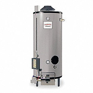 Commercial Gas Water Heater, 91 gal. Tank Capacity, Natural Gas, 199,900 BtuH