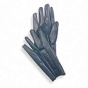 Smooth Nitrile Coated Gloves, Glove Size: M, Blue